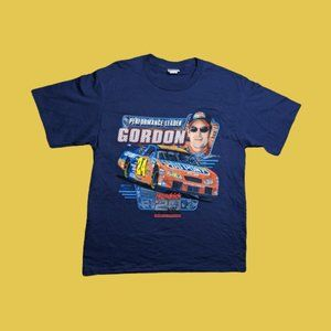 Jeff Gordan #24 Navy Blue Nascar Men's Shirt